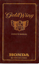 1992 HONDA GL1500I GOLDWING INTERSTATE MOTORCYCLE OWNERS MANUAL -GOLD WING