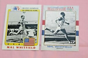 MAL WHITFIELD LOT OF 2 1983 OLYMPICS GREATEST OLYMPIANS #95 1991 IMPEL #39 TRACK