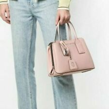 MARC JACOBS The Editor Leather Satchel Carryall Pearl Pink ~Silver Hardware ~NWT