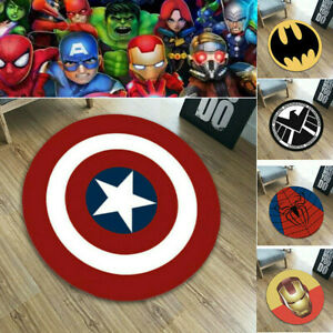 Superhero Carpet Non Slip Mat Floor Rug Bathroom Bedroom Marvel Spider-Man Pad