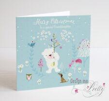 Cute PERSONALISED Polar Bear Christmas Card - Boys Son Grandson