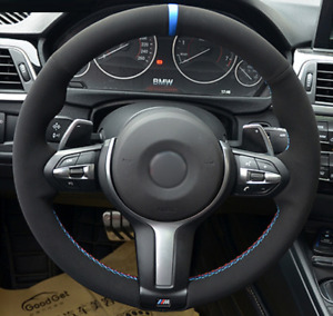 Car Suede Alcantara Steering Wheel Cover For BMW M2 M3 M4 M5 M6 X5 X6 F87 F80 F3