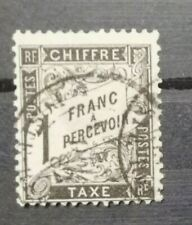SUPERBE TIMBRE TAXE N°22 OBLITERE - FRANCE - COTE: 500€!