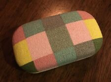 CONTACT LENS CASE Lenses Eye Checkered Plaid Pinks Blues GREENS #76