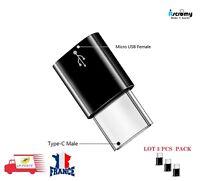 Lot x3 Adaptateur Convertisseur USB 3.1 Type C Male vers Prise Femelle Micro USB