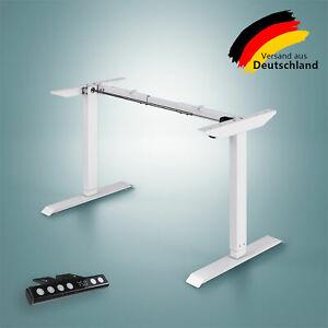 Elektrisch Höhenverstellbarer Schreibtisch Tischgestell für Home Office Weiß