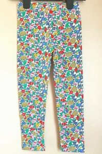 BNWOT White Red Blue Yellow Floral Leggings 6-7 Years Post Next Dy Matching Item