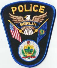 Berlin Police Vermont patch NEW ***LAST in STOCK***