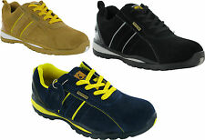 MENS STEEL TOE CAP LEATHER/SUEDE WORK LACE UP SAFETY TRAINER UK SIZE 6 TO 12