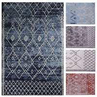 Trellis Bohemian - 5'x8' Moroccan Faded Transitional Area Rug - 511