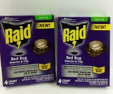 New Lot of 2 Raid Bed Bug Detector And Trap (4 Count Each Pack) Free Shipping!