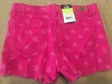 NWT Jordache Cut Off Shorts Adjustable Girls Size 12 Stretchy Denim Pink