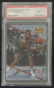 1999 STEVE FRANCIS Bowman's Best Rookie Card #102 PSA 9 Mint Houston Rockets