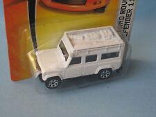 Matchbox Land Rover 110 Defender White Body Safari 4x4 Toy Model Car RARE