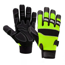 West Chester Safety Gloves Green Pro Series Synthetic Leather Gloves Medium