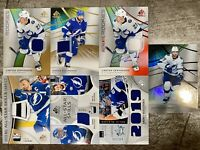 2019-20 SP GAME USED 7x LIGHTNING JERSEY AUTO LOT VERHAEGHE STAMKOS KUCHEROV /35