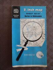 "Ordnance Survey Mappa 2.5"" SD87 HORTON in ribblesda 1957 PEN-Y-Gand, Halton Gill"