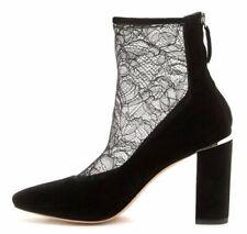 Pour La Victoire Risa Lace Suede Leather Back Zip Ankle Boot Bootie 6 NEW $325