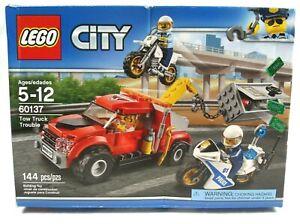 LEGO CITY SET 60137 TOW TRUCK TROUBLE NEW FACTORY SEALED DAMAGED BOX SHIPS FREE!