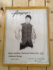 Boys' Waistcoat Size 8 Pattern 1776 Costumes of Williamsburg Authentic Design
