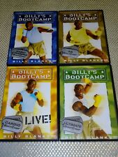 Lot of 4 Different Billy's Bootcamp DVD's Billy Blanks Tae-Bo