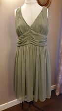 ladies dress Green size 12 grecian style new with labels
