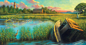 """Sunsout  -  """"Laughing Gull Creek""""  -  Puzzle 500 pieces  NEW"""