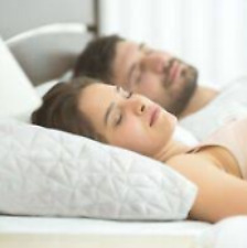 Martha Stewart Dream Science Gusset Pillow White Ventilated Memory Foam $100 NEW
