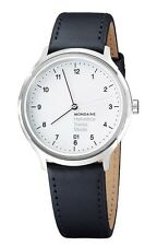 Mondaine Unisex MH1R2210LB Helvetica Analog Display Swiss Quartz Black Watch