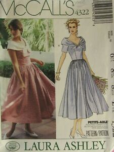 VTG 89 McCALLS 4322 LAURA ASHLEY MS/MP Dress in 2 Versions PATTERN 10/32.5B