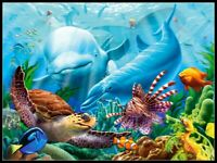 Ocean Life - Chart Counted Cross Stitch Pattern Needlework Xstitch craft DIY DMC