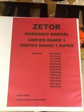 ZETOR WORKSHOP REPAIR MANUAL 5211-7745 948850