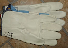 #320 Small Leather hand shovel utility work Gloves USA made - Wearable SECONDS