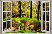 Efecto 3D Imperio de ventana de vista ciudad de Nueva York NUEVA YORK Pegatina Pared Póster Vinilo GA1-265