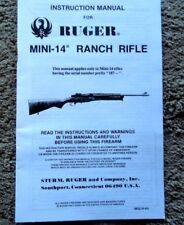 ruger mini 14 manual in gun manuals for sale ebay rh ebay com Mini-14 Parts and Accessories Mini-14 Bolt Disassembly