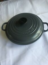Le Creuset Grey Shallow Casserole Pan With Lid 26cm
