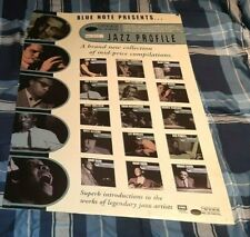 BLUE NOTE RECORDS 1997 PROMO POSTER FOR JAZZ PROFILE SERIES NUMBER 1 BIG NAMES!