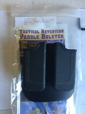 RSR Defense Glock Magazine Mag Double Pouch Stack Holder Holster, 9mm .40, .357