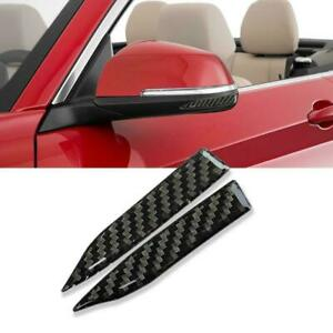 2x Car Side Rearview Mirror Edge Protector Carbon Fiber Decals Fit Toyota Lexus