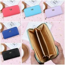 Women's 3D Bow Knot Sweet Decoration Long Wallet Female Portable Leather Fashion