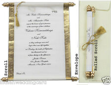 25Pcs Wedding Invitation Personalized Custom Vintage Scroll Wedding Invitations