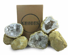 """10 Break Crack Open Your Own Whole Moroccan Geodes W/Gift Box - 2"""" Crystal Druzy"""