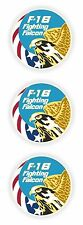 3x F16 Seal Bumper Stickers US Army Falcon for Helmet Laptop Hard Hat Tablet