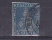 Italy States Tuscany 1851 2 Cr SG10 Used J3413