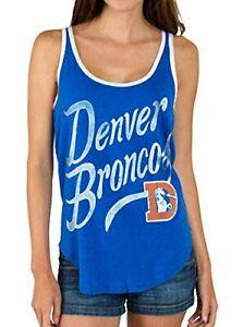 Denver Broncos Junk Food NFL Blue Touchdown Tank Top Women's MEDIUM NEW