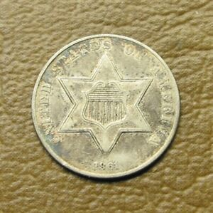 NICER 1861 SILVER 3-CENT