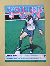 SOUTHEND UNITED  v OXFORD UNITED   - DIV 3 -  81/82 - FOOTBALL PROGRAMME
