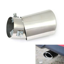 Universal Round Silver Stainless Steel Chrome Exhaust Tail Muffler Tip Pipe Good