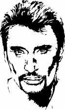 Sticker Johnny Hallyday 108 - 57x97 cm