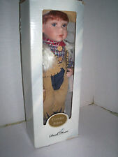 """Duck House """"Graham"""" Doll, Porcelain Country Series, 17"""", New In box"""